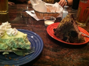No, that's not an entire cake on each plate.