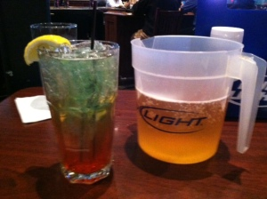 Which of these drinks belongs to the only boy at the table ... Hmmm ...