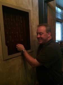 Ted chooses the keys to Door #4