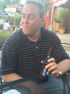 Ted chugs a Miller Lite. And his face pretty much sums up how he feels about it.