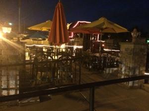 Oddest Mexican restaurant patio ever.