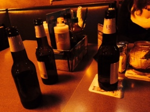 Mine and Amanda's side of the table. Obviously.