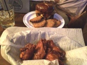 Burgers and wings. The WTGW staples.