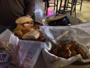 Sandwiches and wings. Our staples of life.