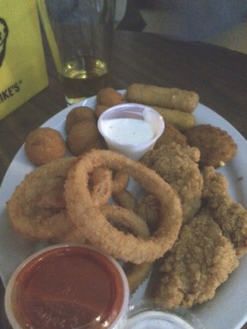 Plate of random fried stuff